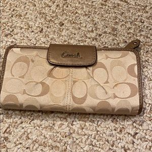 Fabric Coach wallet